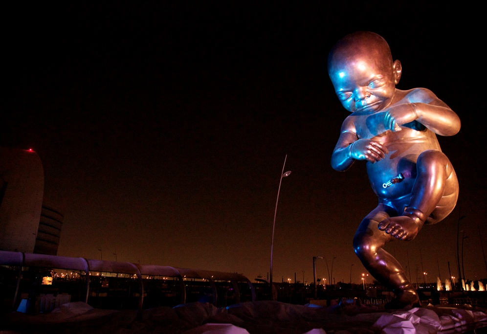 Damien Hirst fetus sculptures in Qatar